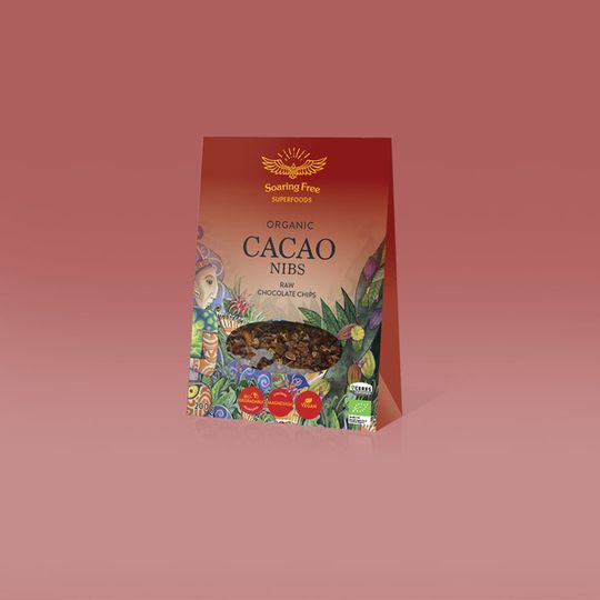 SOARING FREE SUPERFOODS Organic Raw Cacao Nibs - 200g