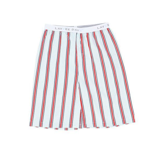 Boys Short Pants (Long Shorts) Red Stripe