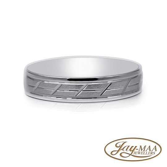 Sterling Silver Band - Stripes