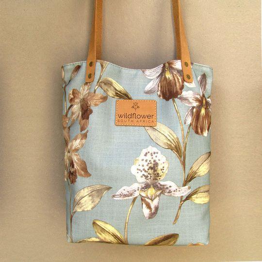 Shopper Bag - Blue-Grey Floral