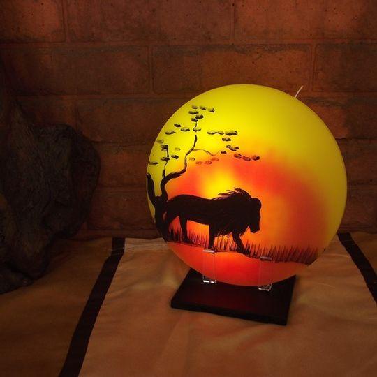 Sunset Candle - Lion