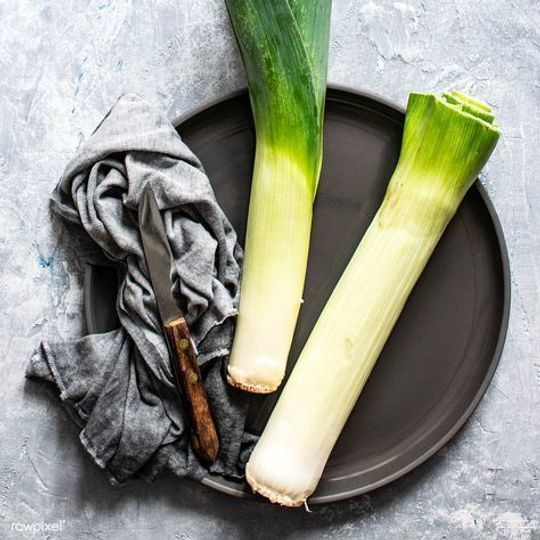 Organic Leeks Bunch