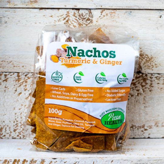 Low carb Nachos Turmeric & Ginger (100g)