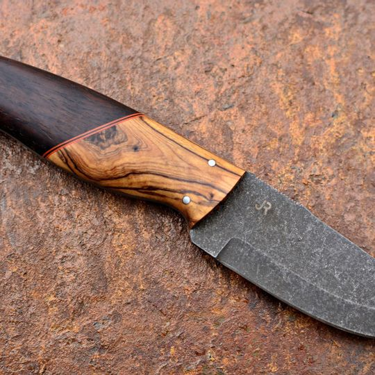Handmade Custom Knife | Stainless Steel with Olive & Leadwood