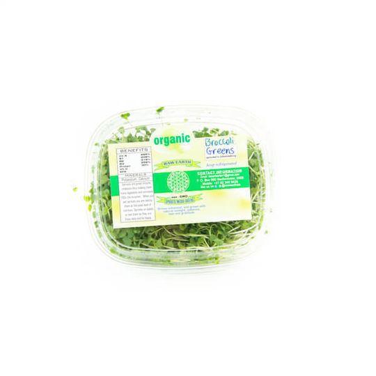 Organically grown Brocolli Greens (100g)