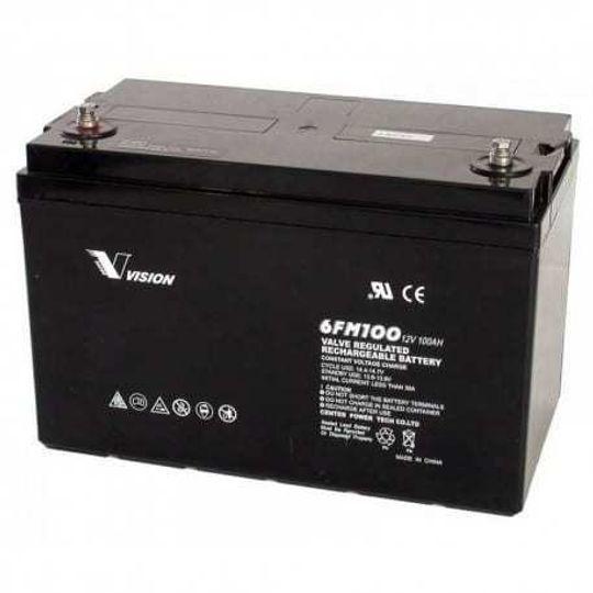 Vision 100Ah 12V Deep Cycle AGM Battery ( Extra Heavy Duty 6FM100Z-X )