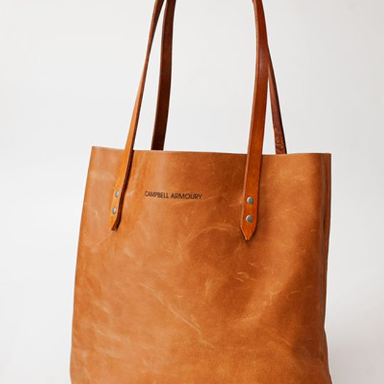 The Leather Totebag - Tan