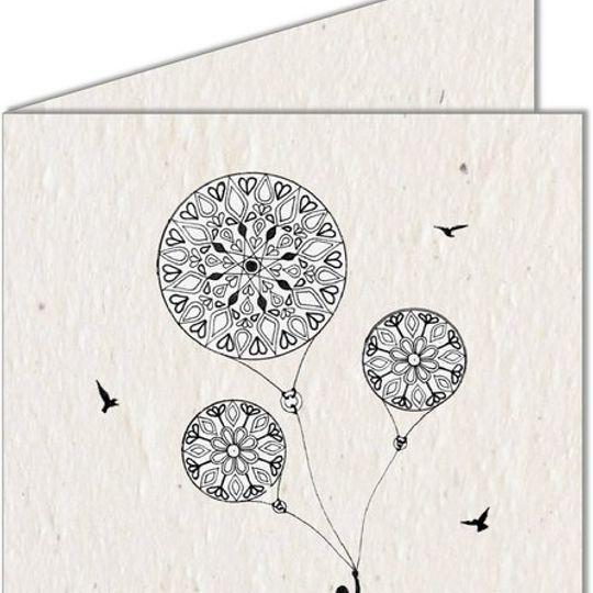 Greeting Card | Mandala Balloons