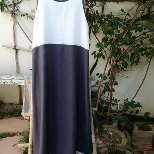 LINEN 2-TONE DRESS