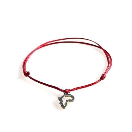 DAINTY Single Thread Bracelet Africa - Red
