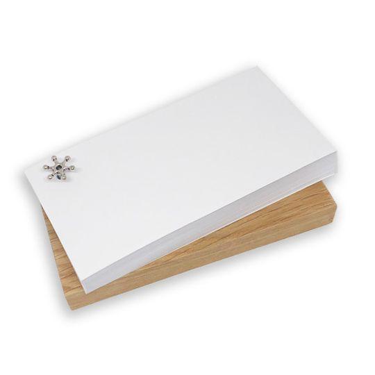 Novelty Notebook on wooden block