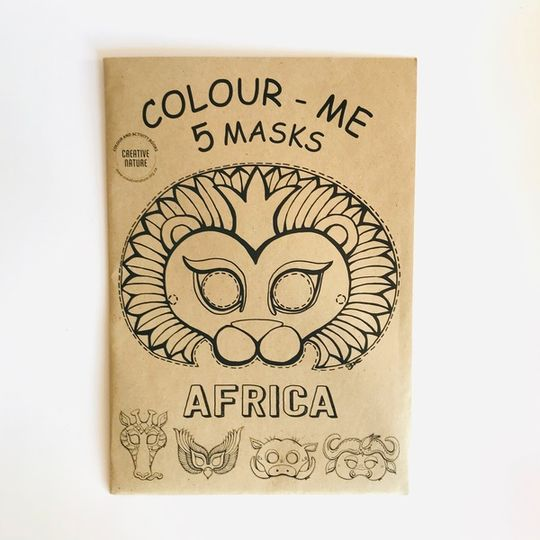 Colour-in African Mask Sets