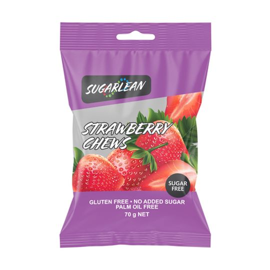 Sugarlean Strawberry Chews (70 g)