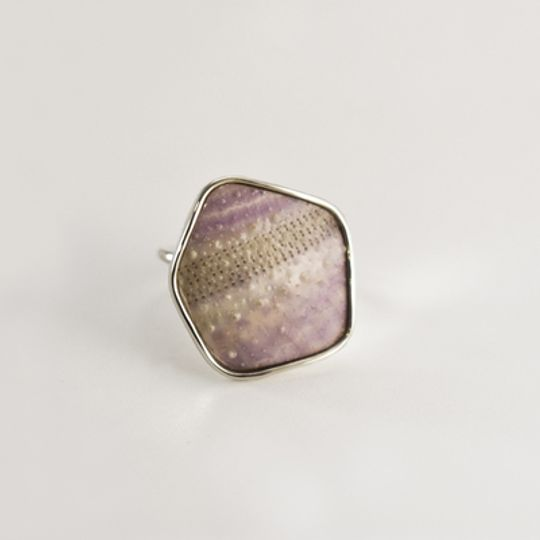 Lilac Geo Sea Urchin Ring