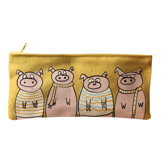 Four little pigs zip and pencil bag