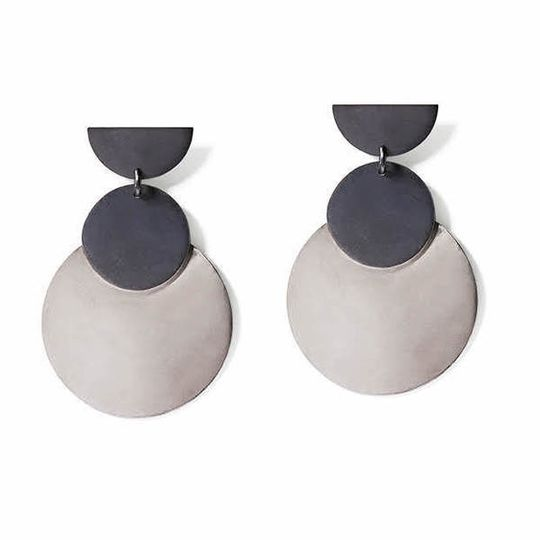 Charcoal & Silver Double Discs