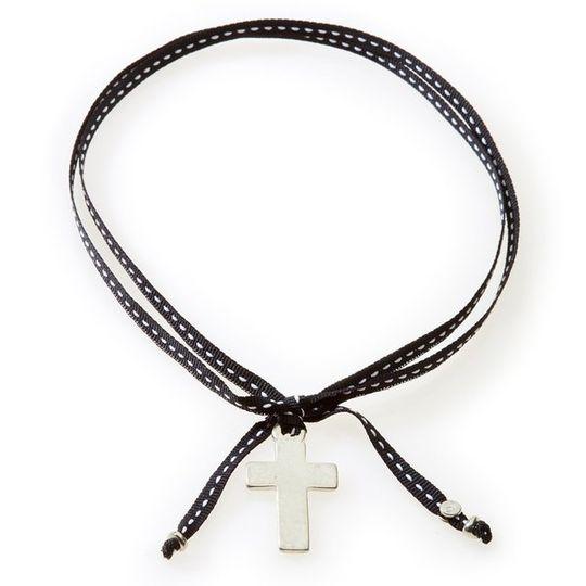 FEISTY Ribbon Necklace & Choker Cross - Black