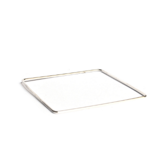 Silver Bangle - Square Shape