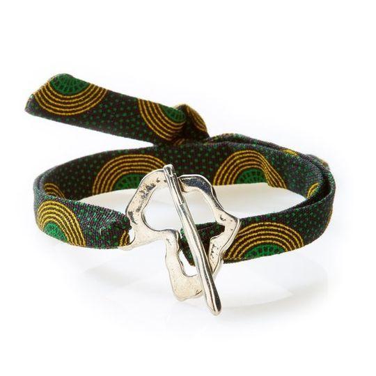 QUIRKY Shweshwe Bracelet Africa - Green