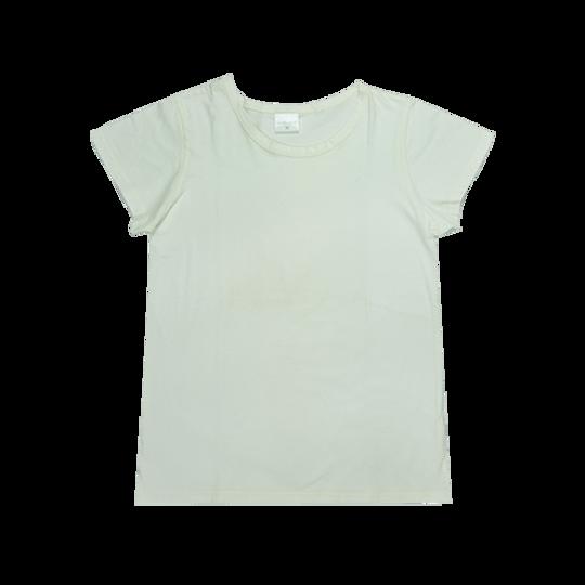 Ladies Short Sleeve - Round Neck Cream