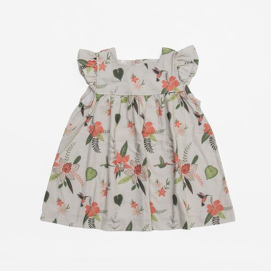 Mocca frilled dress