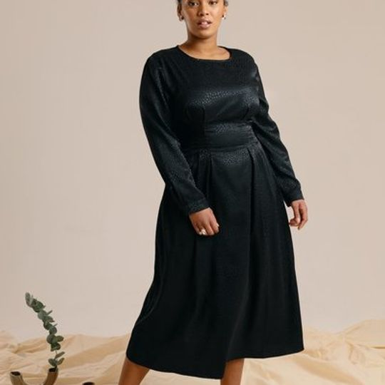The Black Midi Dress