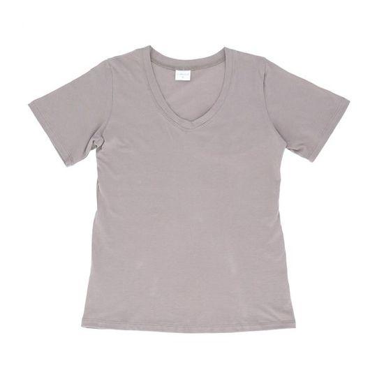 Ladies Short Sleeve - V-Neck Grey