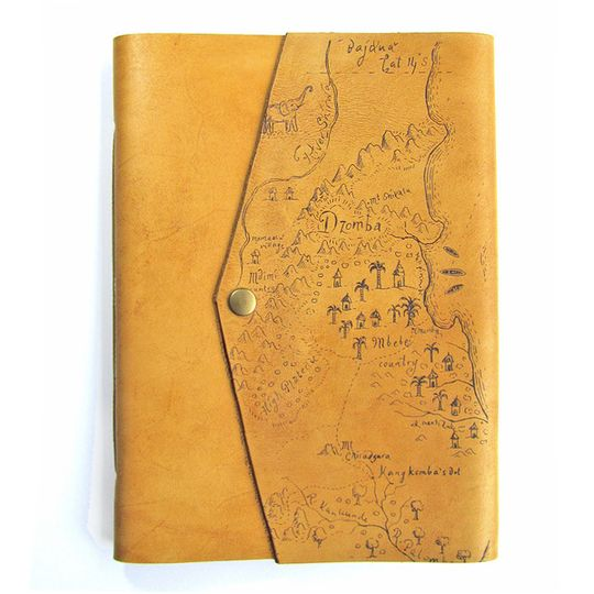 Journal (A5 size) - Africa Map