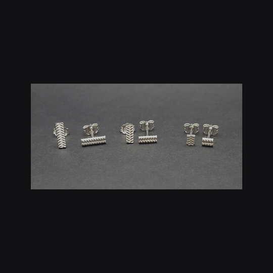 Lil' Twisted Studs (Per Pair)