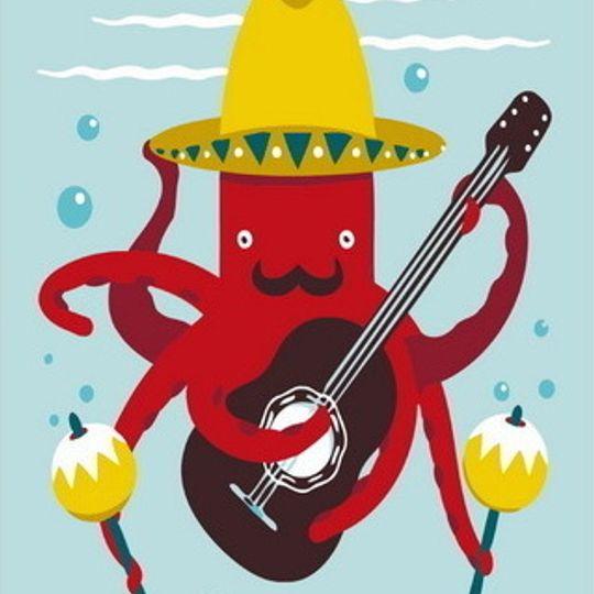 Guitar playing Octupus