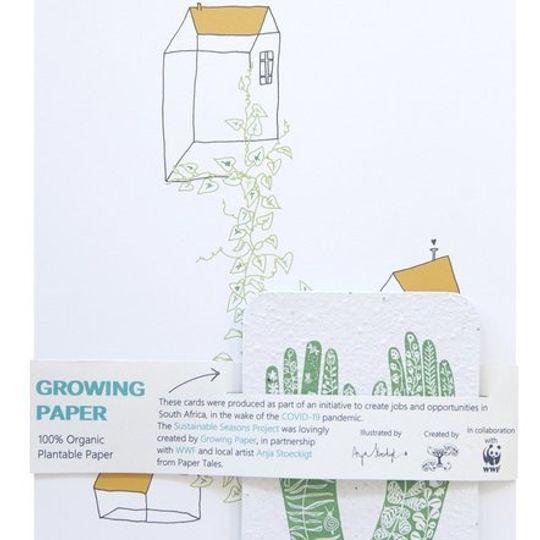 AFRIKAANS | 1 x A4 Drukkuns & 5 Growing Paper Kaartjies