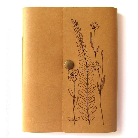 Travel Journal - (A6 size) Pressed Flowers