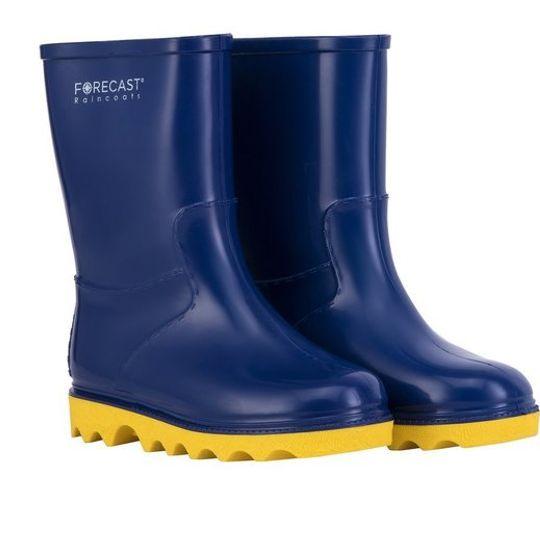 Kiddies Navy & Yellow Rain Boot