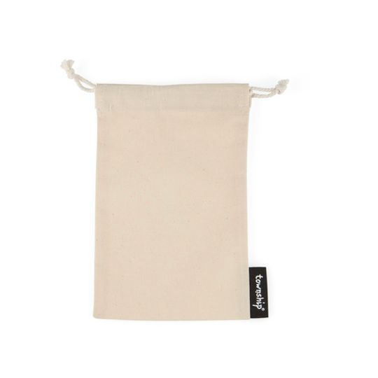 Off-white cotton pouch