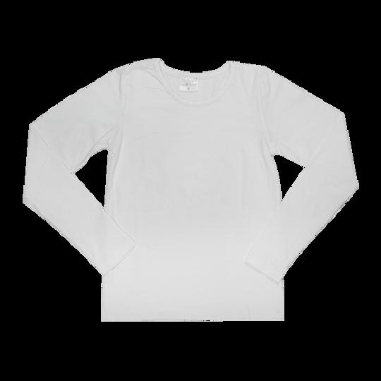 Kids Long Sleeve - Round Neck White