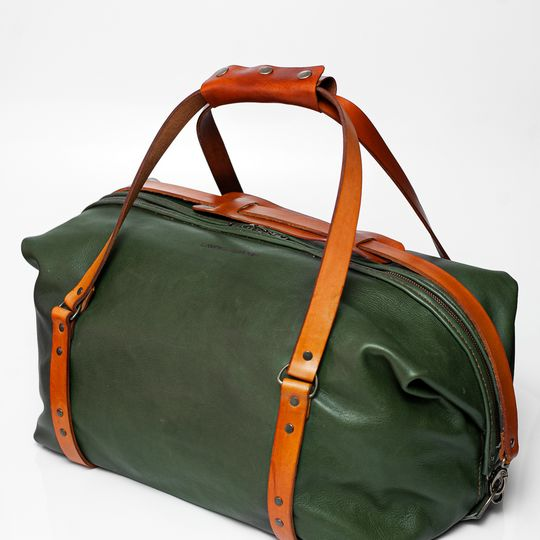 The Leather Duffle bag - Olive