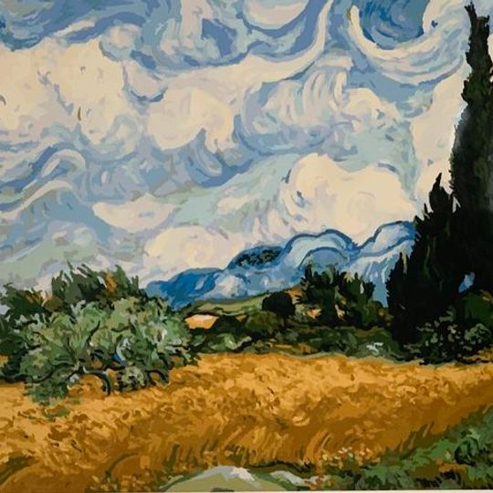 Wheatfields with Cypresses