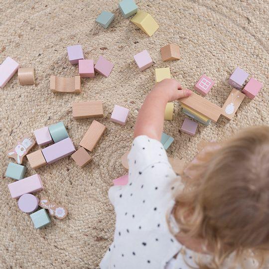 Little Dutch Wooden Blocks in Barrel - Adventure Pink