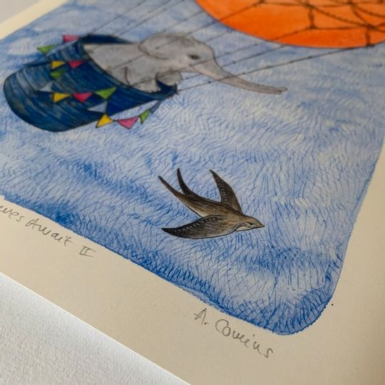 Baby Animal Balloon Adventures | Prints