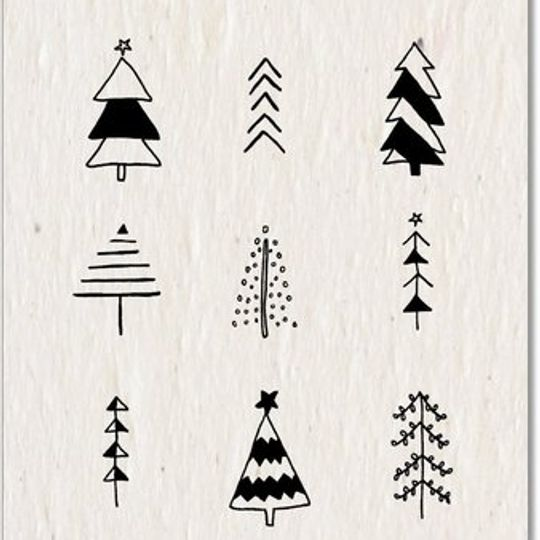 Christmas Card | Ink Christmas Tree's