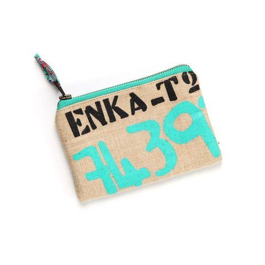 Enka green small purse