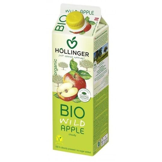 Hollinger Organic Wild Apple Juice (1lt)