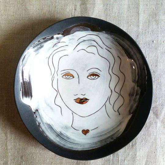 'Lockdown Lady' side plate