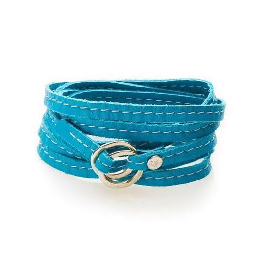 REBEL Versatile leather wrap Turquoise