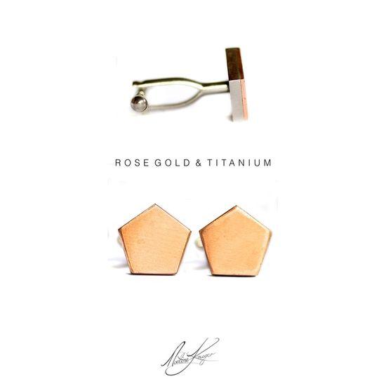 Titanium & Rose gold Cufflinks