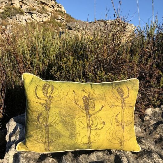 Mustard Leucadendron Cushion Cover (Printed)