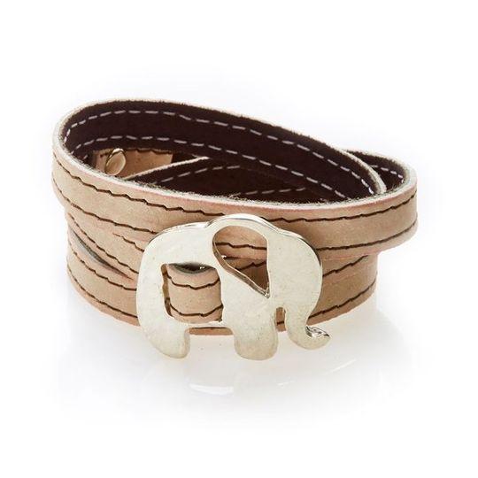 BOLD Reversible suede Bracelet & Choker Elephant - Coffee/Beige