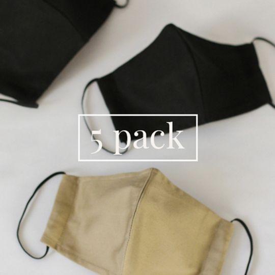 Masks with Pocket - 5 Pack