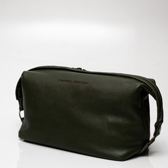 The Handstitched Toiletry Bag - Olive
