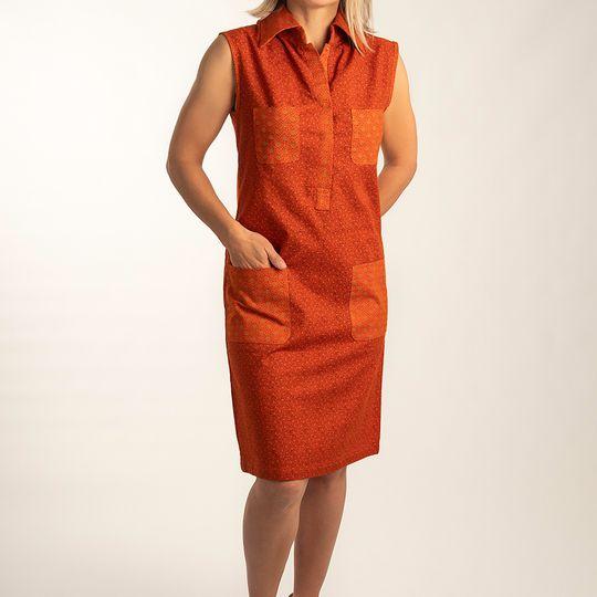 Dress 'Pocket quartet' Marigold